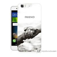 Bordo Huawei Gr3 Kapak Kılıf Hayat Yolu Baskılı Silikon