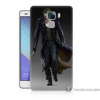 Bordo Huawei Honor 7 Kapak Kılıf Joker Klasik Baskılı Silikon