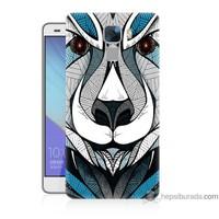 Bordo Huawei Honor 7 Kapak Kılıf Öfkeli Ayı Baskılı Silikon