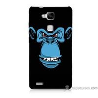 Bordo Huawei Mate 7 Kapak Kılıf Mavi Goril Baskılı Silikon