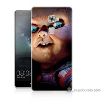 Bordo Huawei Mate S Kapak Kılıf Chuky Baskılı Silikon