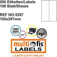 Multiofis 105X297 Mm Laser Etiket 5297