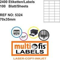 Multiofis 70X35 Mm Laser Etiket 5324