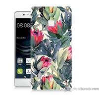 Bordo Huawei P9 Lite Kapak Kılıf Tablo Resim Baskılı Silikon