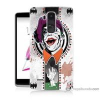 Bordo Lg G4 Stylus Kapak Kılıf Joker Baskılı Silikon
