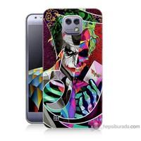 Bordo Lg X Cam Kapak Kılıf Renkli Joker Baskılı Silikon