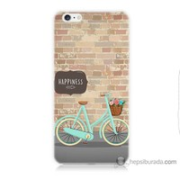 Bordo iPhone 6s Plus Kapak Kılıf Bisiklet Baskılı Silikon