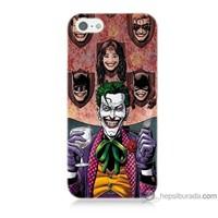 Bordo iPhone 5 Kapak Kılıf Joker Keyfi Baskılı Silikon