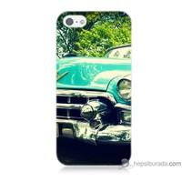 Bordo iPhone 5 Kapak Kılıf Klasik Araba Baskılı Silikon