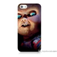 Bordo iPhone 5s Kapak Kılıf Chuky Baskılı Silikon