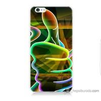 Bordo iPhone 6 Kapak Kılıf El Baskılı Silikon