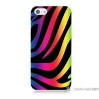 Bordo iPhone 5s Kapak Kılıf Renk Cümbüşü Baskılı Silikon