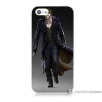 Bordo iPhone 5s Kapak Kılıf Joker Klasik Baskılı Silikon