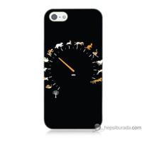 Bordo iPhone 5s Kapak Kılıf Hız Baskılı Silikon