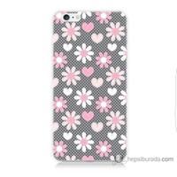 Bordo iPhone 6 Kapak Kılıf Papatya Baskılı Silikon