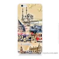 Bordo iPhone 6 Kapak Kılıf İstanbul Efekt Baskılı Silikon