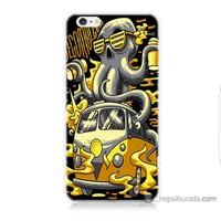 Bordo iPhone 6 Kapak Kılıf Sarı Vosvos Baskılı Silikon