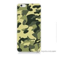 Bordo iPhone 6 Kapak Kılıf Kamuflaj Baskılı Silikon
