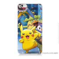 Bordo iPhone 6 Kapak Kılıf Pikachu Ve Arkadaşları Baskılı Silikon
