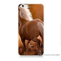 Bordo iPhone 6 Kapak Kılıf At Baskılı Silikon