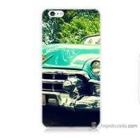 Bordo iPhone 6 Kapak Kılıf Klasik Araba Baskılı Silikon
