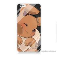 Bordo iPhone 6 Plus Kapak Kılıf Pokemon Baskılı Silikon