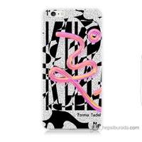 Bordo iPhone 6 Plus Kapak Kılıf Tasarım Görsel Baskılı Silikon