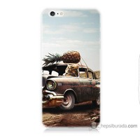 Bordo iPhone 6 Plus Kapak Kılıf Korkunç Araba Baskılı Silikon