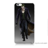Bordo iPhone 6 Plus Kapak Kılıf Joker Klasik Baskılı Silikon