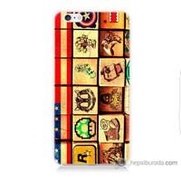Bordo iPhone 6s Kapak Kılıf Amerikan Oyunları Baskılı Silikon