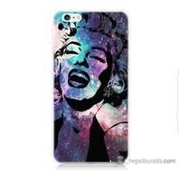 Bordo iPhone 6 Plus Kapak Kılıf Marilyn Monroe Baskılı Silikon