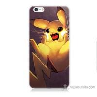 Bordo iPhone 6s Kapak Kılıf Elektro Pikachu Baskılı Silikon