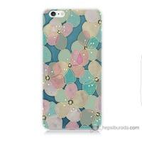 Bordo iPhone 6s Kapak Kılıf Çiçek Baskılı Silikon
