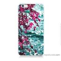 Bordo iPhone 6s Kapak Kılıf Manzara Baskılı Silikon