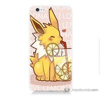 Bordo iPhone 6s Kapak Kılıf Sevimli Pokemon Baskılı Silikon