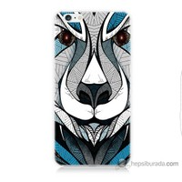 Bordo iPhone 6s Kapak Kılıf Öfkeli Ayı Baskılı Silikon