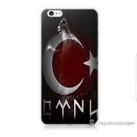 Bordo iPhone 6s Kapak Kılıf Alp Baskılı Silikon