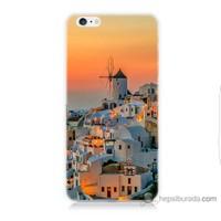 Bordo iPhone 6s Kapak Kılıf Manzara Yunanistan Baskılı Silikon