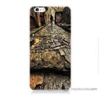 Bordo iPhone 6s Kapak Kılıf Arnavut Kaldırım Baskılı Silikon