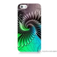 Bordo iPhone Se Kapak Kılıf Renkli Kanatlar Baskılı Silikon