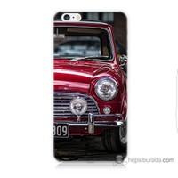 Bordo iPhone 6s Kapak Kılıf Kırmızı Klasik Araba Baskılı Silikon