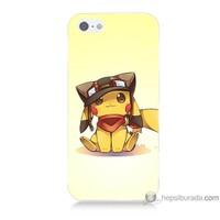 Bordo iPhone Se Kapak Kılıf Pokemon Baskılı Silikon