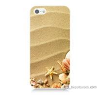 Bordo iPhone Se Kapak Kılıf Deniz Yıldızı Baskılı Silikon