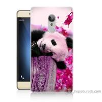 Bordo Türk Telekom TT175 Kapak Kılıf Sevimli Panda Baskılı Silikon