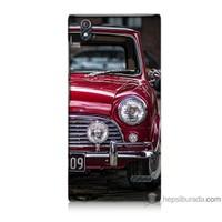 Bordo Turkcell T50 Kapak Kılıf Kırmızı Klasik Araba Baskılı Silikon
