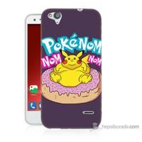 Bordo Turkcell T60 Kapak Kılıf Obur Pokemon Baskılı Silikon