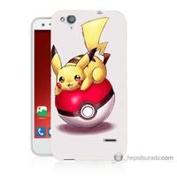 Bordo Turkcell T60 Kapak Kılıf Pokemon Topu Baskılı Silikon
