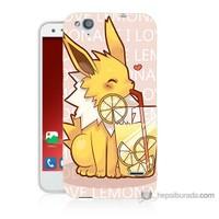 Bordo Turkcell T60 Kapak Kılıf Sevimli Pokemon Baskılı Silikon