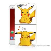 Bordo Turkcell T60 Kapak Kılıf Pokemon Görsel Baskılı Silikon