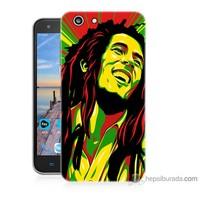 Bordo Turkcell T70 Kapak Kılıf Bob Marley Baskılı Silikon